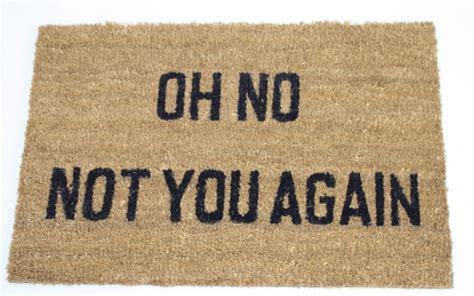 "Pvc Back Coir Doormat Oh No Not You Again 24"" X 16"