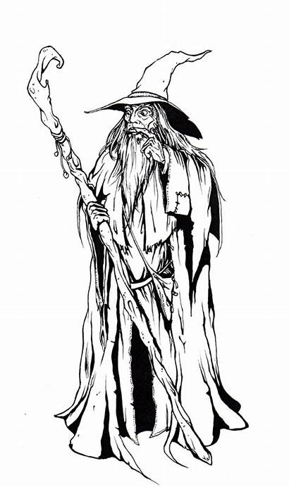 Gandalf Drawing Coloring Pages Sketch Grey Template