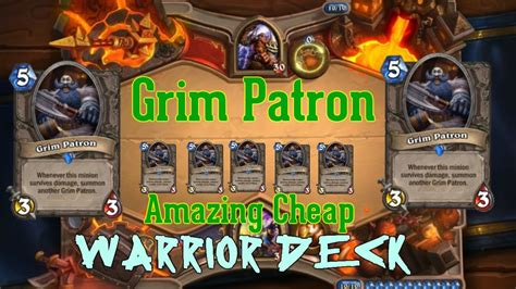 warrior hearthstone deck grim patron hearthstone grim patron blackrock cheap amazing warrior