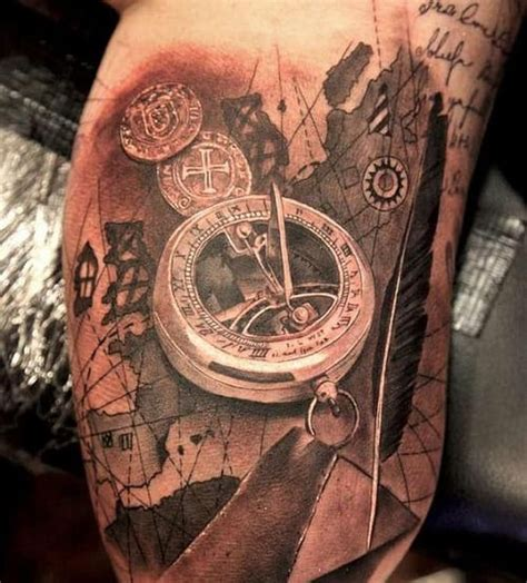 meaningful compass tattoos ultimate guide june