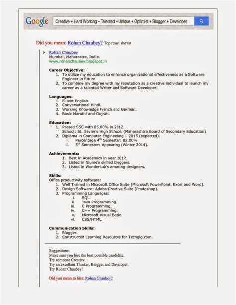 Resume Generator by Resume Generator Template Of Business Resume