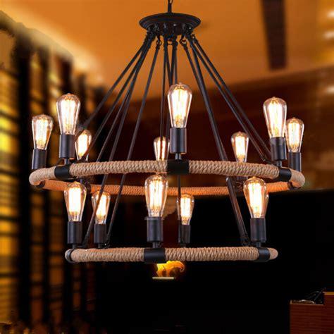 chandelier cafe nordic ikea retro industrial iron chandelier led
