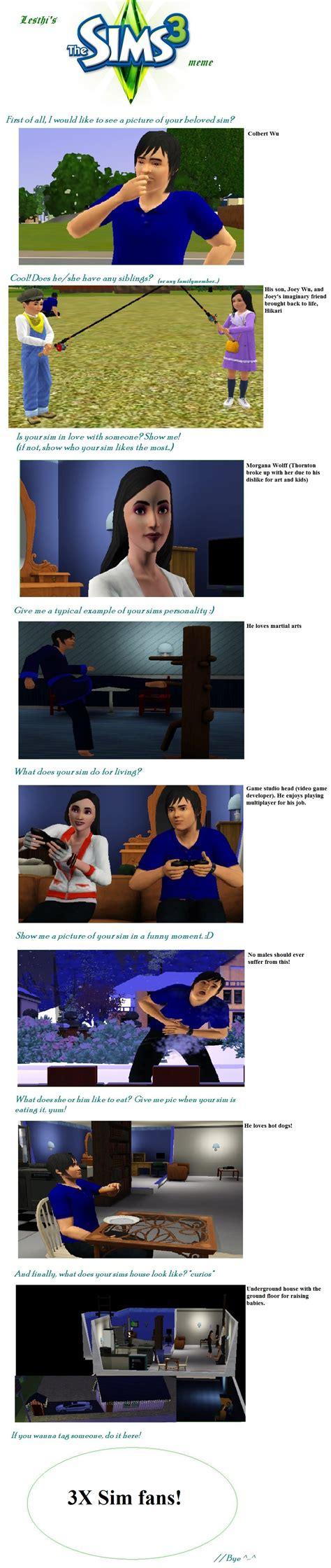Sims 3 Meme - sims 3 meme by proudorcs on deviantart