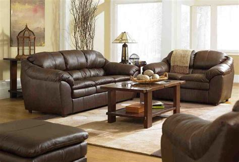 living room decor with leather sofa awesome brown sofa living room design ideas greenvirals