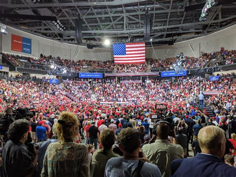 trump rally manchester empty seat pic bunk theory polls skewed conspiracy august against presidency most