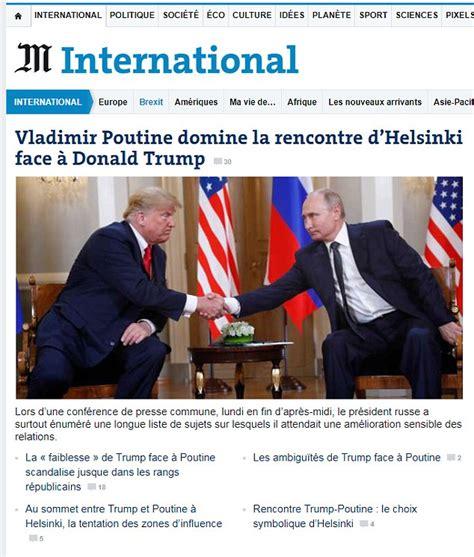 World press mocks Donald Trump over his Vladimir Putin