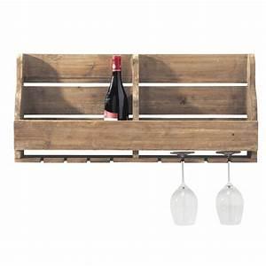 Meuble Range Bouteille : meuble range bouteilles mural en bois l 80 cm theophile maisons du monde ~ Teatrodelosmanantiales.com Idées de Décoration