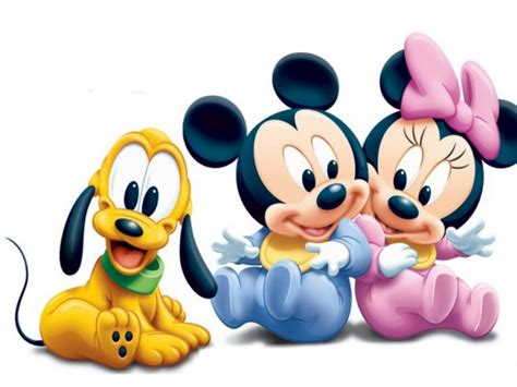 mickey mouse pluto  minnie mouse  babies disney hd