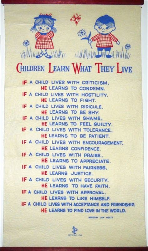 children learn what they live by dorothy nolte 878 | c2196b4feb5de6d79f6914e43208ebd0