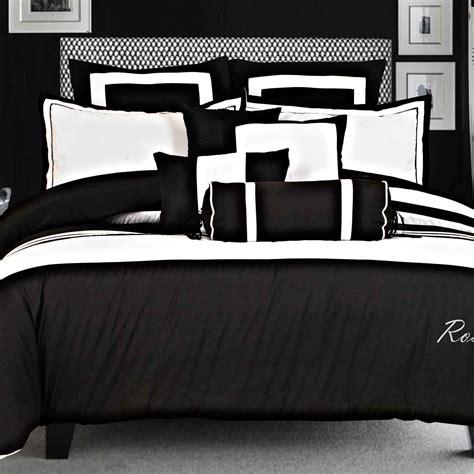 black and white bed linen s19 smart black white king size bedlinen set