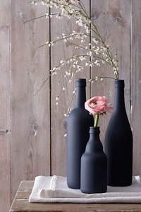 Bocaux En Verre Pas Cher : fabriquer un vase deco avec une bouteille en verre ~ Melissatoandfro.com Idées de Décoration