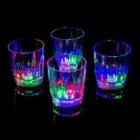 led barware 12 plastic led glasses light up luminous