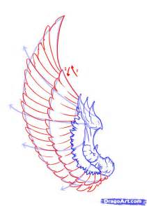 How to Draw Angel Wings Side View