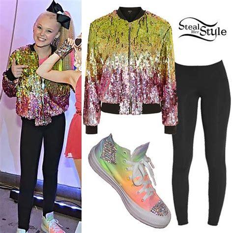 JoJo Siwa: Sequin Bomber, Rainbow Sneakers | Jojo siwa ...