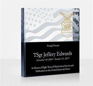 How To Thank A Boss For A Gift Air Force Appreciation Plaques And Wording Samples Diy