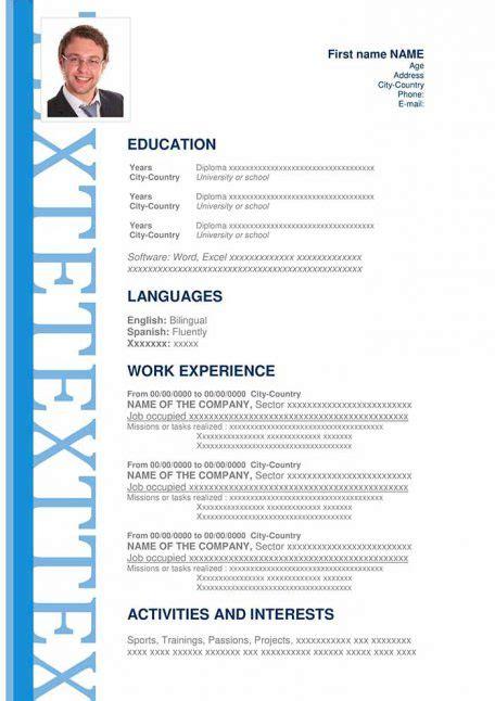 modern sample resume      word