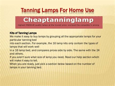 tanning bulbs for home tanning ls for home use