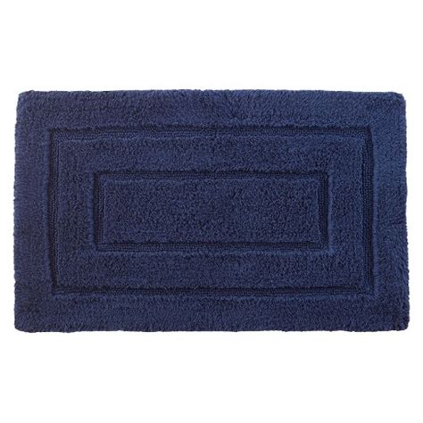 kassadesign solid bath rug  navy kassatex target