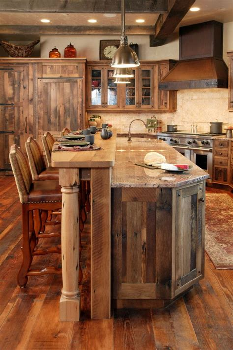 cuisines rustiques bois le meuble massif est il convenable pour l 39 intérieur