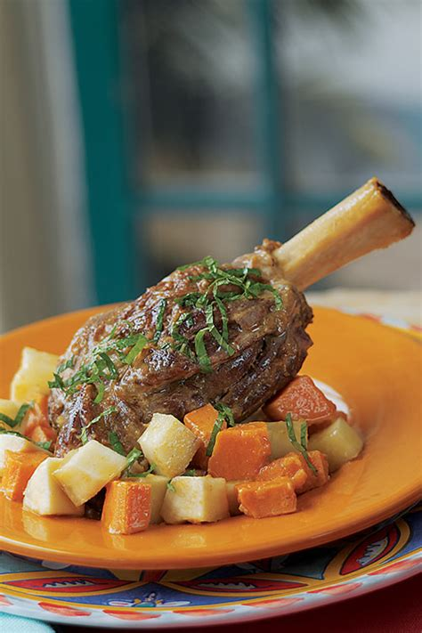 braised curried american lamb shank  yucca superior