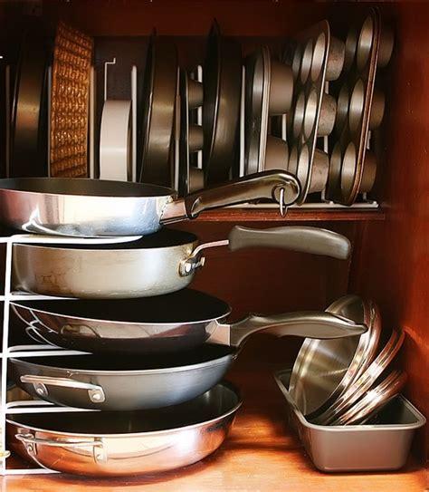 kitchen cupboard organizing ideas 58 cool kitchen pots and lids storage ideas digsdigs
