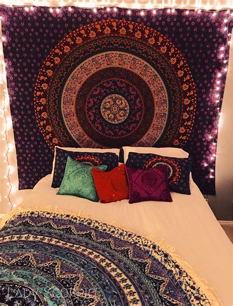 Bedroom Tapestry Uo by Scorpio Bohemian Bedroom Filled With Mandala