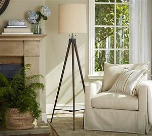 gibson statement tripod floor lamp pottery barn With wooden floor lamp pottery barn