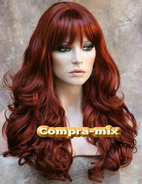 peluca larga color rojizo ondulada bfn 3 299 00 en