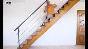 Garde De Corps Escalier : poser une rampe et un garde corps sur un escalier en bois tuto brico avec robert youtube ~ Melissatoandfro.com Idées de Décoration