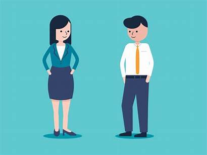 Business Characters Loop Dribbble Rachelle Explainer Worked