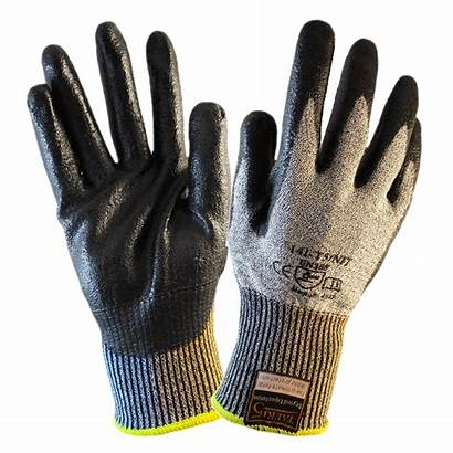 Gloves Resistant Cut Nitrile Coated Palm Grey
