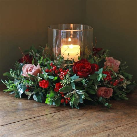 christmas table wreath centerpieces 44 best flowers images on ideas ornaments and