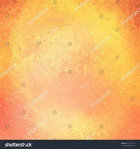Abstract Yellow Background, Peach Orange Border Of Vintage ...