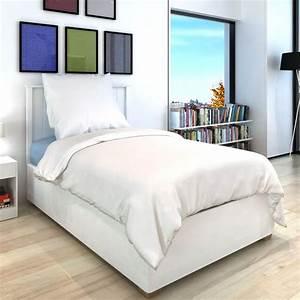 Bettwäsche 155x220 Weiß : vidaxl 2 tlg bettw sche set baumwolle wei 155x220 80x80 cm g nstig kaufen ~ Yasmunasinghe.com Haus und Dekorationen