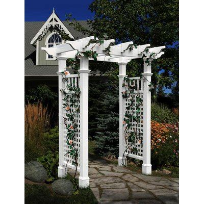 arbor prices price comparisons fairfield vinyl pergola arbor without trim kit winiewskaoia