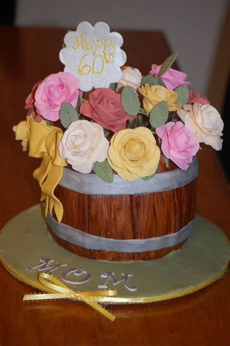 Mom 60th birthday celebration is an ideal time to express all that you feel for her. A Piece of Cake!: My Mother-In-Law's 60th Birthday Cake