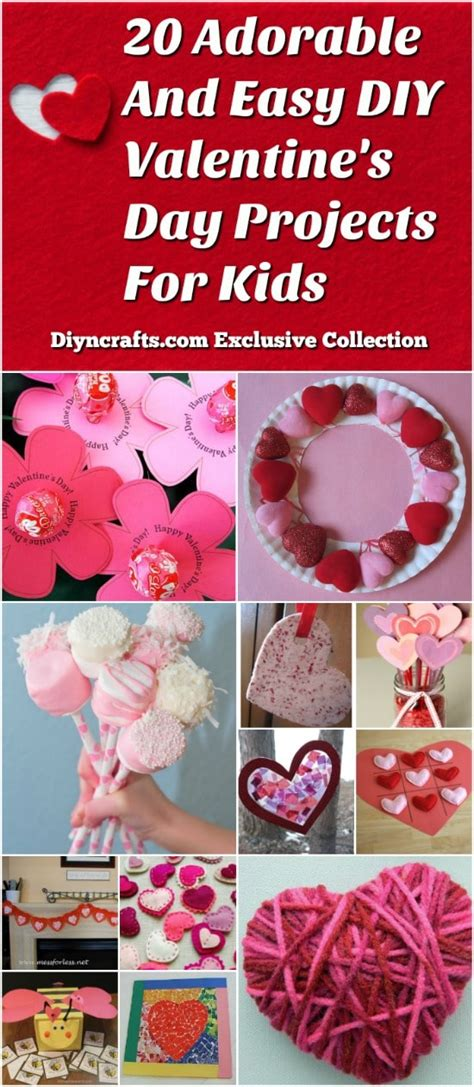 adorable  easy diy valentines day projects  kids
