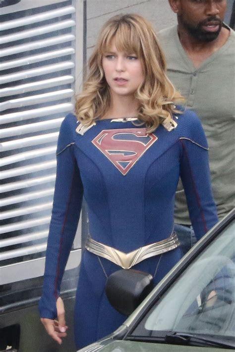 melissa benoist supergirl set  vancouver