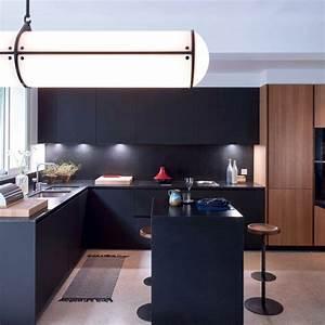 cuisine chene clair plan travail noir cuisine bois With couleur qui va avec le bois 1 le carrelage imitation bois en 46 photos inspirantes