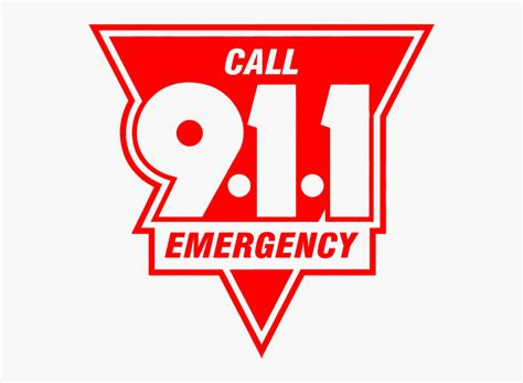 Text Call 911 Emergency Logo Free Transparent Clipart