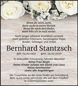 Super Sonntag Wittenberg : traueranzeigen von bernhard stantzsch ~ Watch28wear.com Haus und Dekorationen