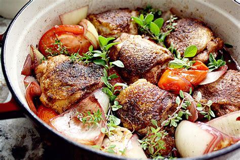 coq cuisine spiced coq au vin wine braised chicken