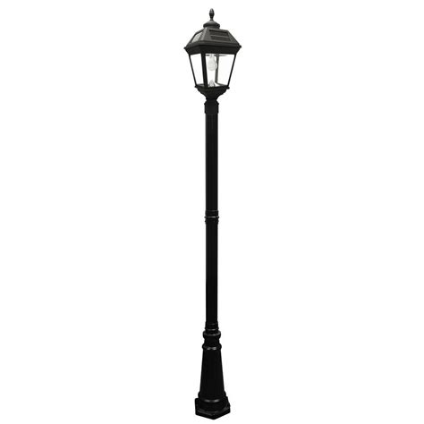 outdoor solar l post gama sonic imperial bulb series single black integrated