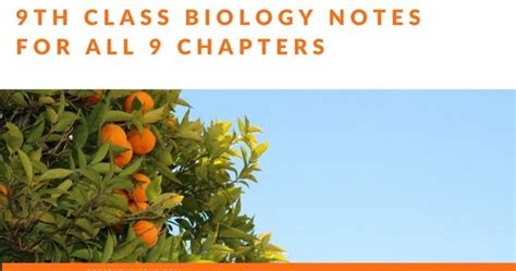 class biology notes    chapters  federal
