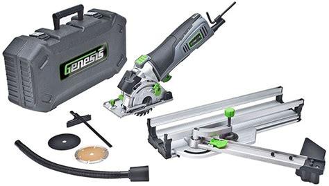 Genesis Trakrunner Mini Plunge Cutting Circular Saw
