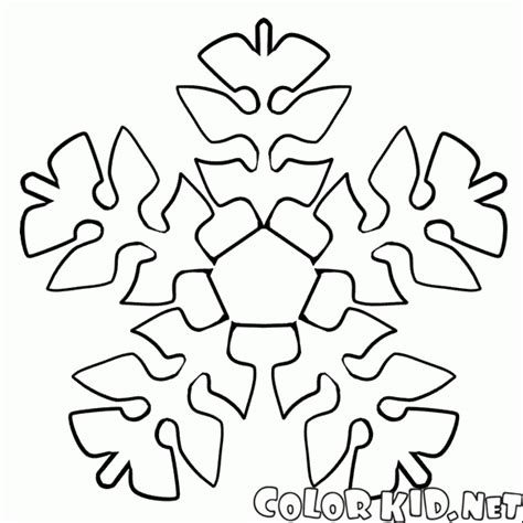 coloring page snowflake   form  foliage
