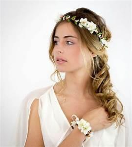 Couronne De Fleurs Mariée : headband coiffure mariage ~ Farleysfitness.com Idées de Décoration