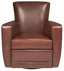 American, Leather, Ethan, Contemporary, Swivel, Accent, Chair