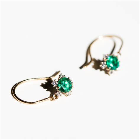juniper emerald earrings jewelry catbird