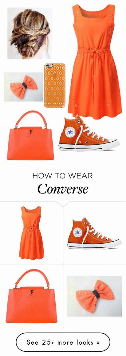 Outfits Polyvore Converse Girly Orange Vuitton Louis